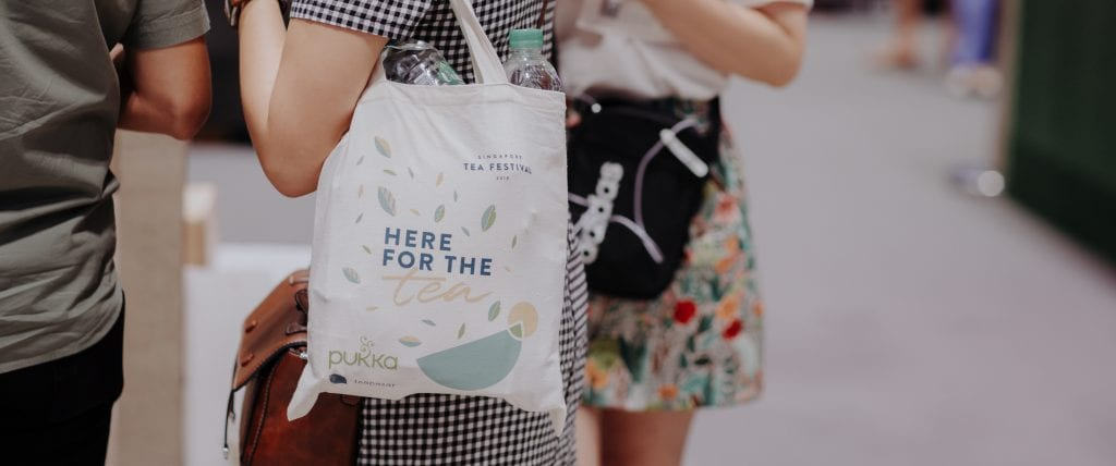 Person Carrying Singapore Teafest ToteBag