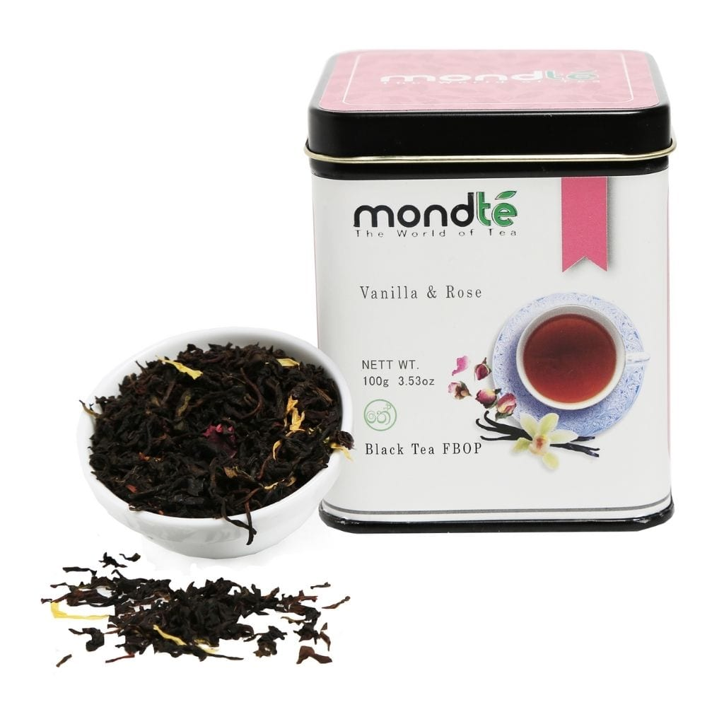 Mondté Black Tea Vanilla Rose